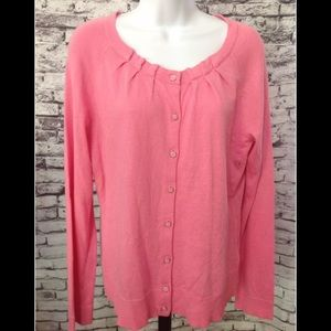 New York & company pink cardigan lightweight NEW